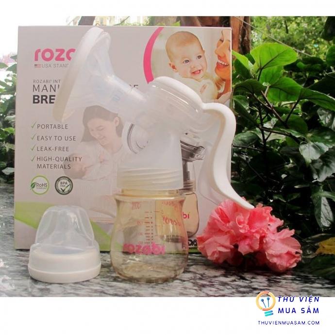 Máy hút sữa bằng tay cao cấp nhựa PPSU Rozabi - Hàng Chính Hãng